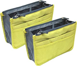 Two Pack of Purse Organizer Insert Handbag Pouch Tidy & Neat with 13 Pocket (Ships From USA)