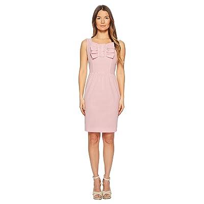 Boutique Moschino Seersucker Dress with Bow Detail (Fantasy Print Fuchsia) Women