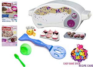 Easy Bake Ultimate Oven Baking Star Edition + 2 Oven Refill Mixes + 2 Sweet Treats Tasty Oven Recipes + Mixing Bowl and Spoon (5 Items Total) (Green)