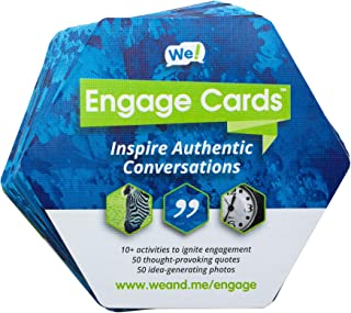 We Engage Cards Icebreaker Quotes Trust Building Games, Team Building Activities, Conversation Starters for Meetings and New Relationships (56 Cards)