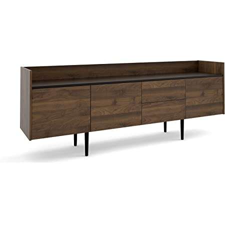 Amazon Com Tvilum Unit 2 Drawer 3 Door Sideboard Walnut Black Buffets Sideboards