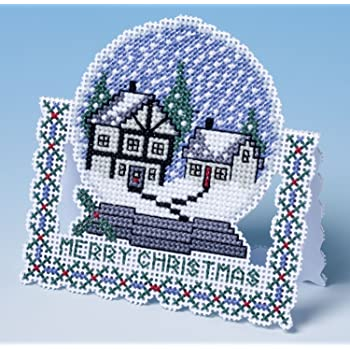 Counted Cross stitch Christmas card Kit by Bothy Threads Derwent Let it Snow