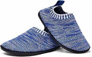 Sosenfer Zapatillas de Estar por casa Kids Slipper Suave Antideslizantes de Punto para niños y niñas Pantuflas Unisex