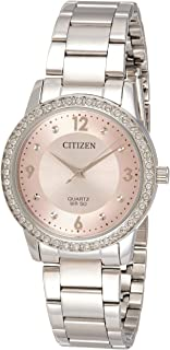 Citizen Womens Quartz Watch, Analog Display and Stainless Steel Strap - EL3090-81X