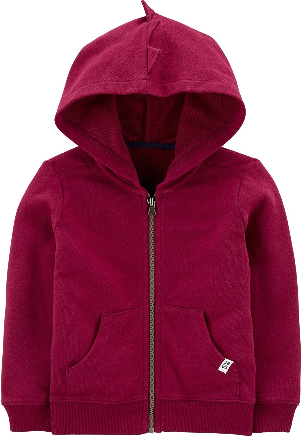 Carter's Baby Boy's Zip Front French Terry Spike Hoodie