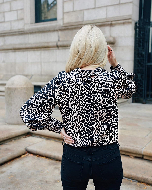 The Drop Women's Leopard Print Wrap-Effect Bodysuit by @somewherelately