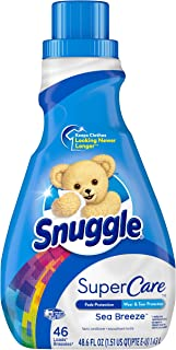 Snuggle SuperCare Liquid Fabric Softener, Sea Breeze, 48.6 Fl Oz, 46 Loads