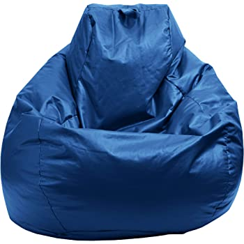 Gold Medal Bean Bags Gold Medal Glossy Vinyl Bean Bag, Medium, Bright Blue