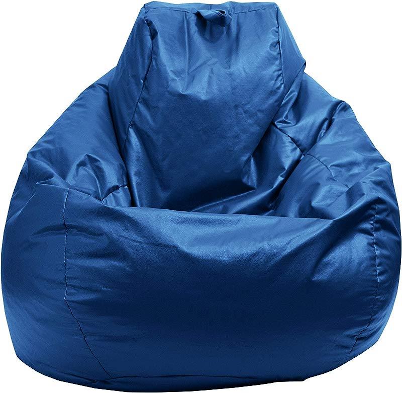 Gold Medal Bean Bags 30011209804TD Gold Medal Glossy Vinyl Bean Bag Medium Bright Blue