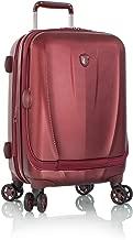 Heys Vantage 21-inch Polycarbonate Hardside Carry-on Smart Upright Laptop Suitcase (Burgundy)