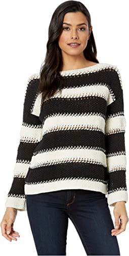 A Stitch in Time Easy Open Knit Stripe Sweater