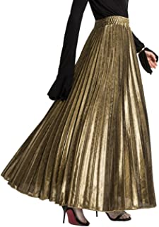 Best metallic maxi skirt Reviews