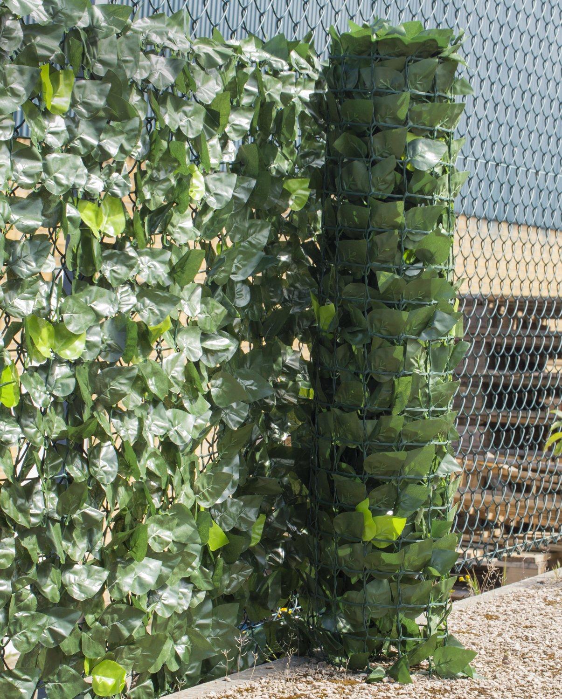 Seto artificial de hojas de hiedra artificial: Amazon.es: Jardín