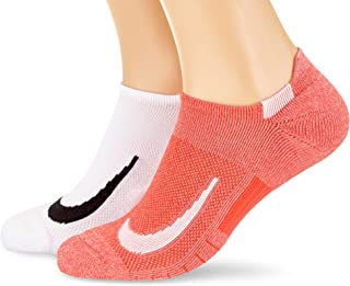Nike Australia Unisex Multiplier No-Show Socks (2 Pair), Multi-Color, L