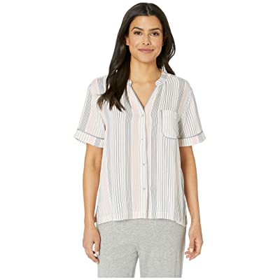 Donna Karan 25 Top Plain Weave (Cream Print) Women