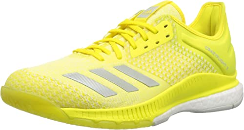 Adidas Wohommes Crazyflight X 2 Volleyball chaussures, Shock jaune ash argent blanc, 9.5 M US