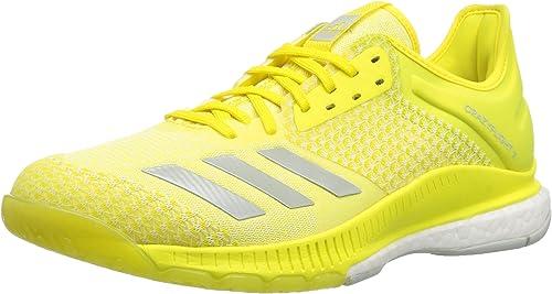 Adidas Wohommes Crazyflight X 2 Volleyball chaussures, Shock jaune ash argent blanc, 10.5 M US