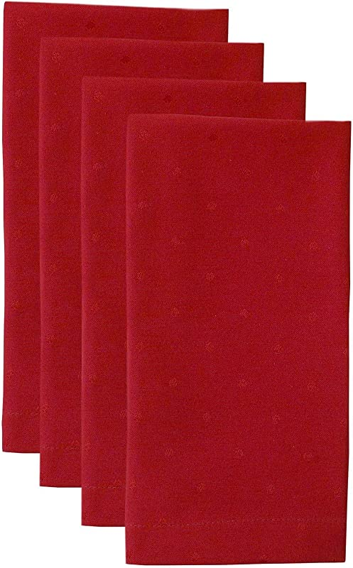 Kate Spade New York Larabee Dot Napkin Set Cranberry 4 Ct