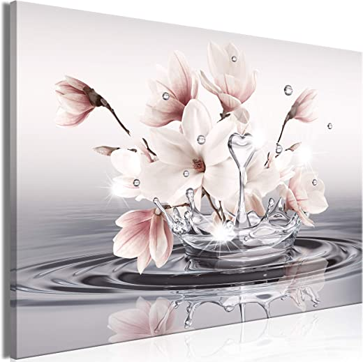 murando – Bilder Blumen 120×80 cm Vlies Leinwandbild 1 TLG Kunstdruck modern Wandbilder XXL Wanddekoration Design Wand Bild – Magnolie Zen Spa…