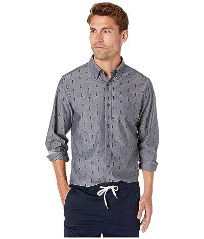Ben Sherman Long Sleeve Guitar Print Shirt (Grey) Men