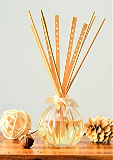 Manu Home White Vanilla Bean Reed Diffuser Features a Sophisticated Blend of Madagascar Vanilla Bean, Cassis and a hint of Amber | Beautiful Reusable Bottle | Decorative Reeds | Made in USA