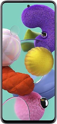 كاميرا سامسونج جالاكسي A51، الترا هاي ريس الرباعي، فيديو 4K، الجيل الرابع، هاتف ذكي ثنائي الشريحة، بطارية تدوم طوال اليوم، إصدار كيه اس اي، ابيض، 128 جيجابايت