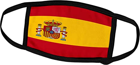 3dRose InspirationzStore Flags - Flag of Spain - Spanish red Golden Yellow Gold with Coat of arms Crown Pillars Shield - Rojigualda - Face Masks (fm_158436_2)