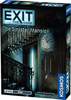 Thames & Kosmos 694036 Kosmos 694036-EXIT-The, 1 to 4 EXIT Sinister Mansion | Level: Advanced | Unique Escape Room Game, ...