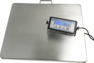 "Angel POS ® Extra Large Platform 22"" x 18"" Stainless Steel 400lb Heavy Duty Digital Postal Shipping Scale, Powered by Batteries or AC Adapter, Great for Floor Bench Office Weight Weighing"