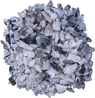 Crocon Rainbow Moonstone Bulk Crushed Raw Rough Rock Natural Gemstone Tumbling Cabbing for Energy Generator Chakra Stone B...