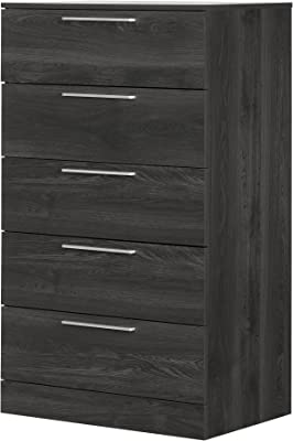 South Shore Step One Essential 5-Drawer Chest, Gray Oak