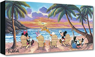 Disney Fine Art Beautiful Day at The Beach by Michelle St Laurent Treasures on Canvas 10 Inches x 20 Inches Mickey Mouse Reproduction Gallery Wrapped Canvas Wall Art