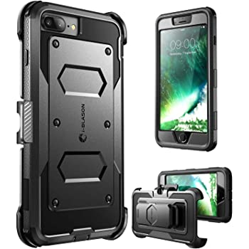 i-Blason Case for iPhone 8 Plus/iPhone 7 Plus, Armorbox Built in Screen Protector Full Body Heavy Duty Protection Case With Shock Reduction/Bumper (Black)