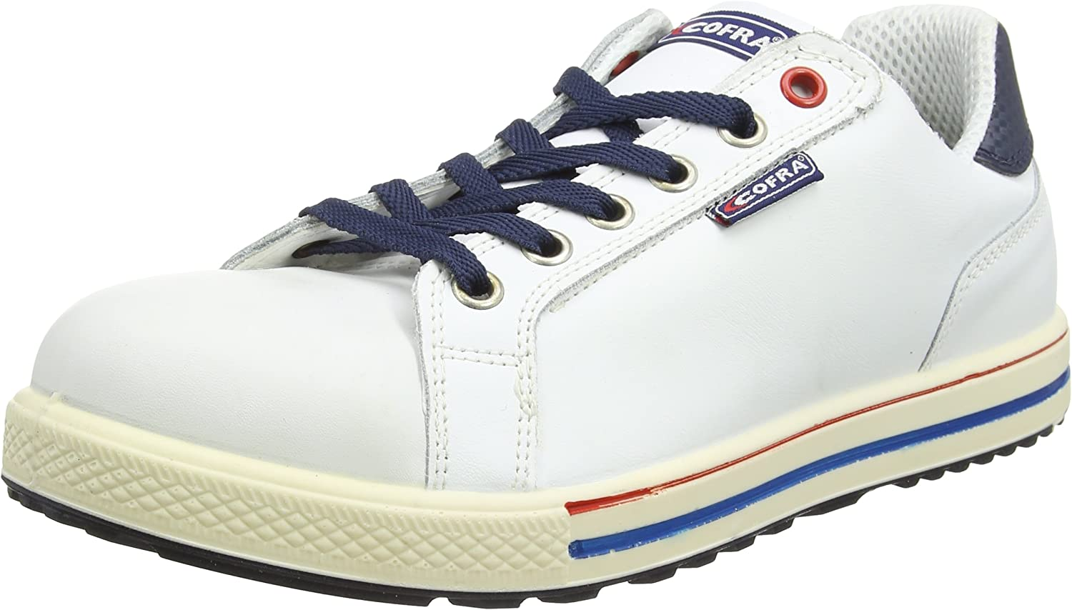 Cofra 35070-000.W43 Size 43 S3 SRC  Assist  Safety shoes -(Multicolord) White bluee