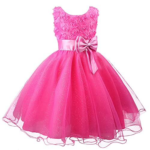14de55e9f Discoball Girls Flower Dress Formal Wedding Bridesmaid Party Christening Dress  Princess Lace Dress for Kids