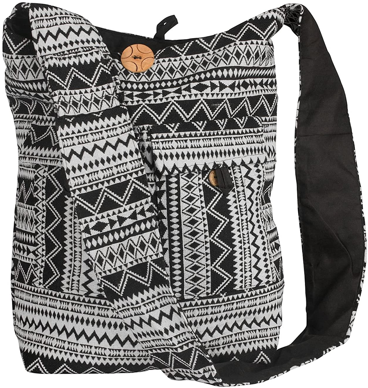 Tribe Azure Large Hobo Crossbody Sling Shoulder Bag Compartment Pockets Functional Zipper Travel Market Books Blanket