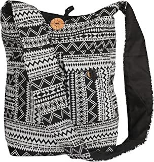 Tribe Azure Large Hobo Crossbody Sling Shoulder Bag Compartment Pockets Functional Zipper Travel Market Books Blanket