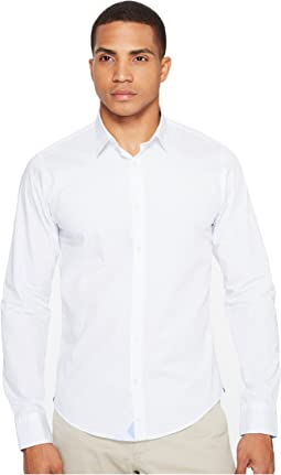Scotch & Soda Classic Long Sleeve Shirt in Crispy Poplin Quality