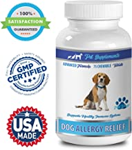 PET SUPPLEMENTS Allergy Relief Dogs - Dog Allergy Relief - Advanced Formula Support - CHEWABLE - quercetin for Pets - 1 Bottle (75 Chews)