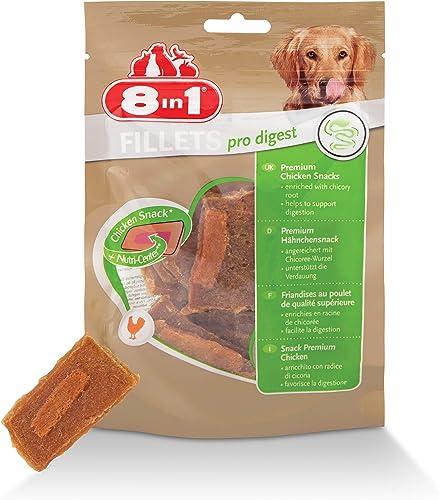 8in1 Fillet Pro Digest Friandises pour chiens adultes et seniors de grandes races – Favorise la santé digestive – Au ...