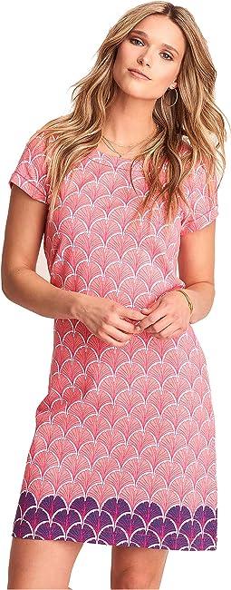 Nellie Dress - Coral Fans