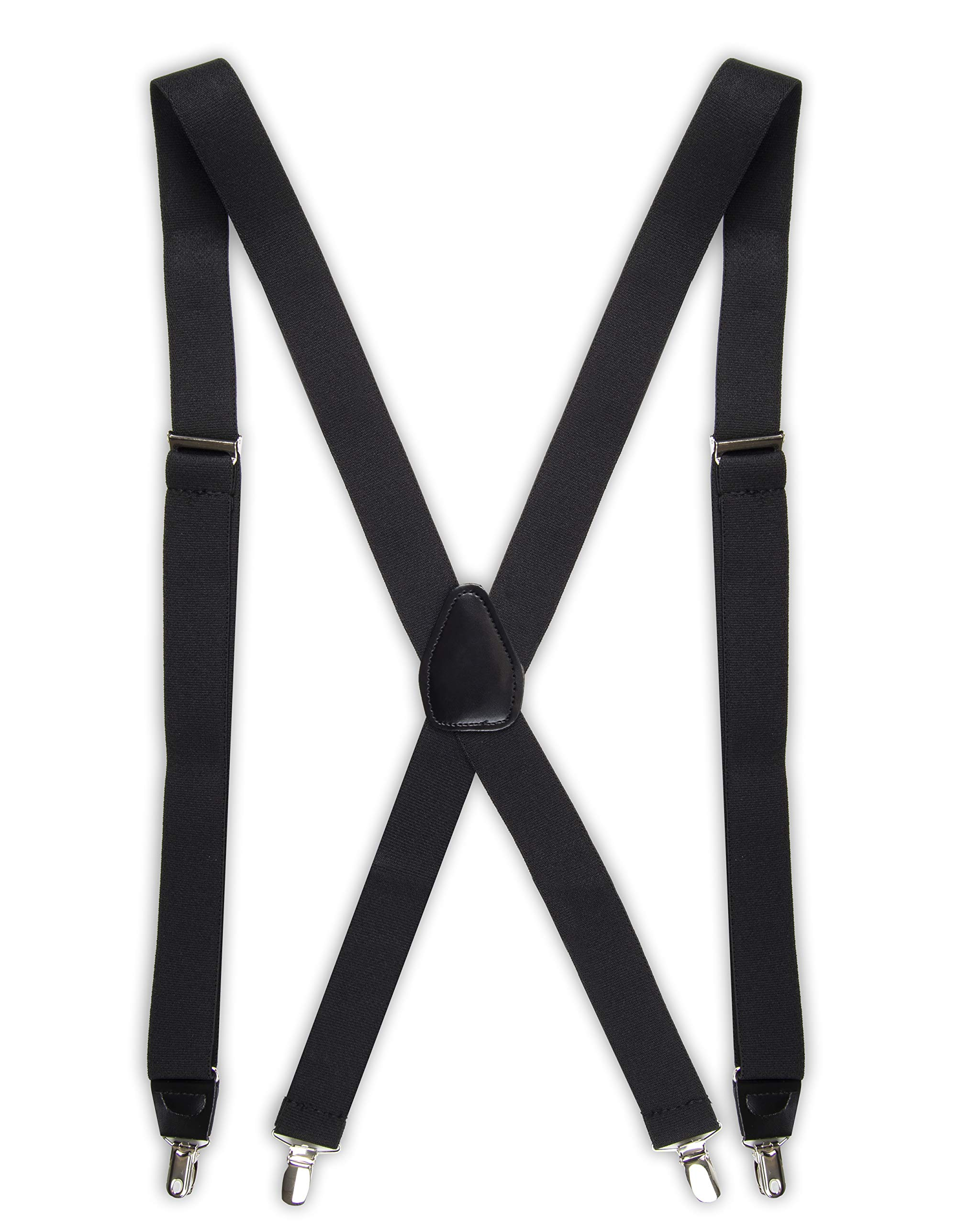 Dockers Mens Solid Suspender Black