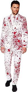 OppoSuits Hombres Halloween Trajes con Divertidos Colores y Estampados - Traje Completo: Chaqueta- Pantalones y Corbata