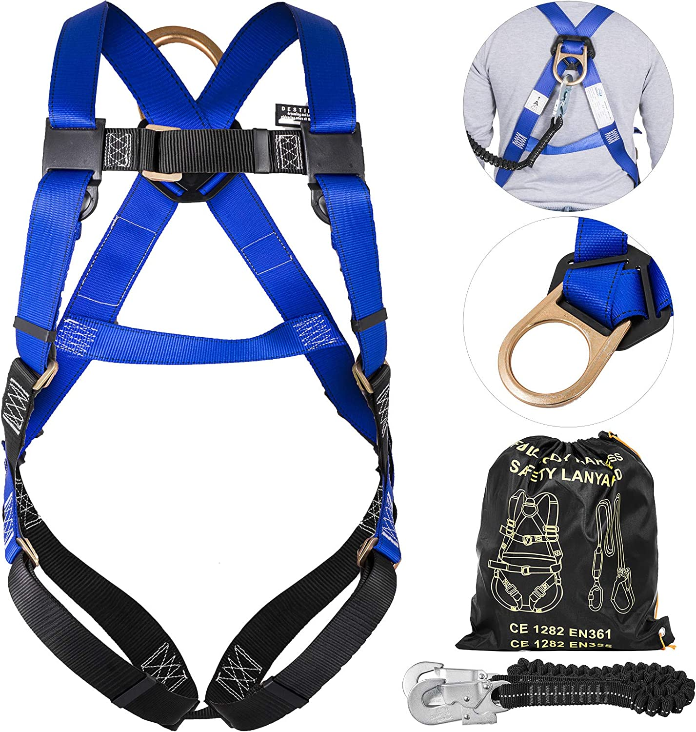 Happybuy 40% OFF Cheap Sale Fall Protection Full Max 87% OFF Body Harness Sho Construction with