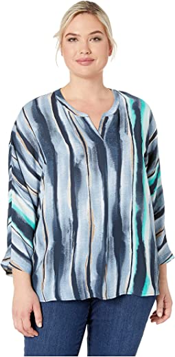 Plus Size Sea Stripe Top