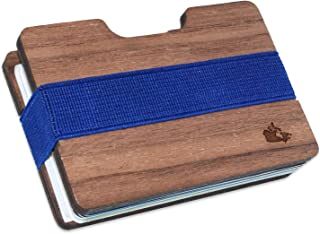 Canada Slim Minimalist Men's Wooden Wallet. Handmade And Laser Engraved With Walnut Wood.