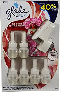 Glade Plugins Blooming Peony and Cherry 1 Warmer Plus 6 Refills
