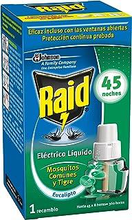 comprar comparacion Raid - Recambio para difusor eléctrico anti mosquitos comunes y tigre aroma eucalipto, 45 noches, 1 recambio