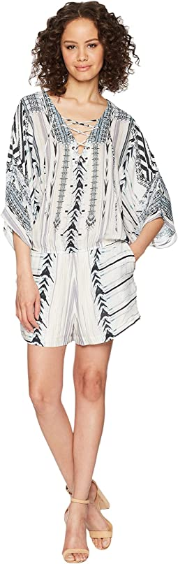 Hale Bob Travel Bright Lightweight Woven Romper