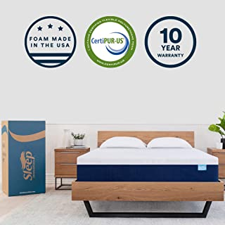 Sleep Innovations Shiloh 12-inch Memory Foam Mattress, Bed in a Box Soft Cover, Made in the USA, 10-Year Warranty, Queen, White